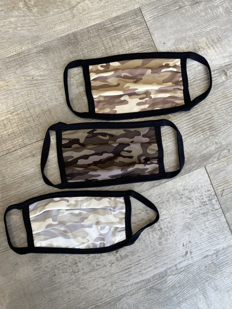 Camo Cloth Face Mask