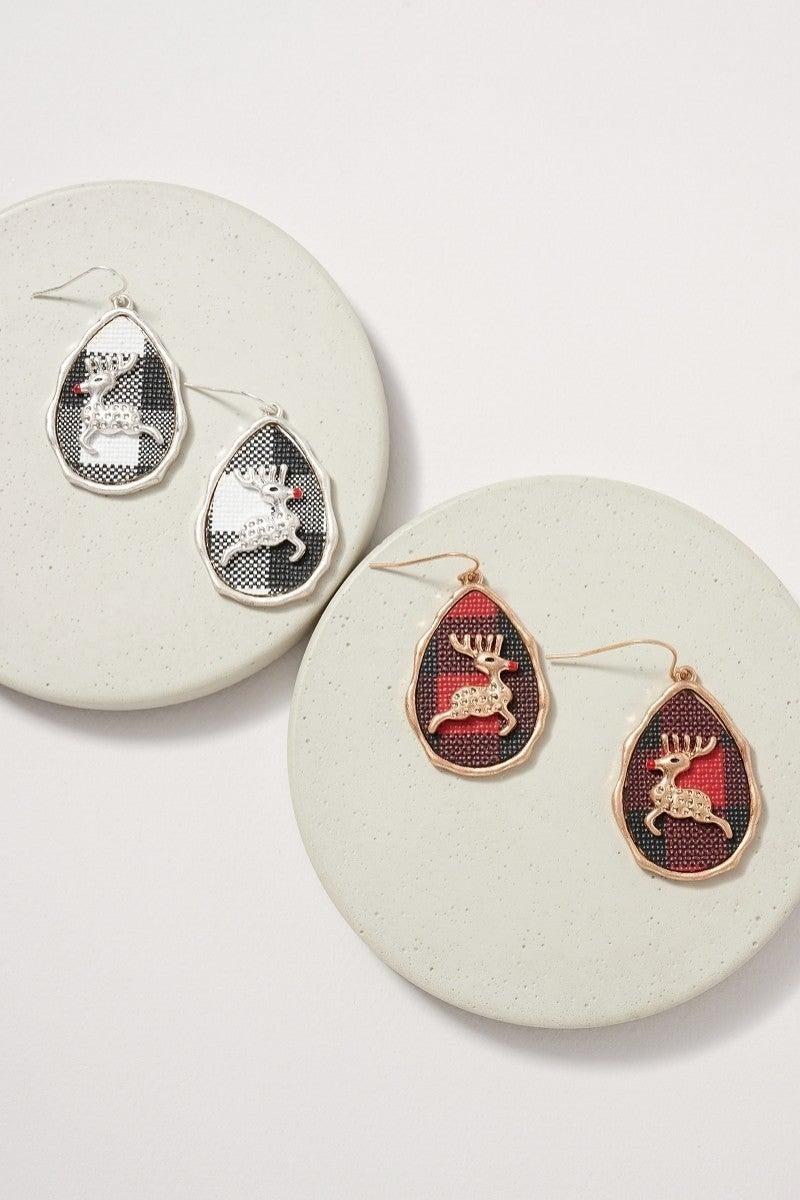Holiday Earring Reindeer or Snowman