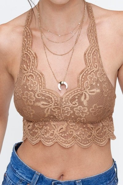 Lace Halter Bralette in Two Colors