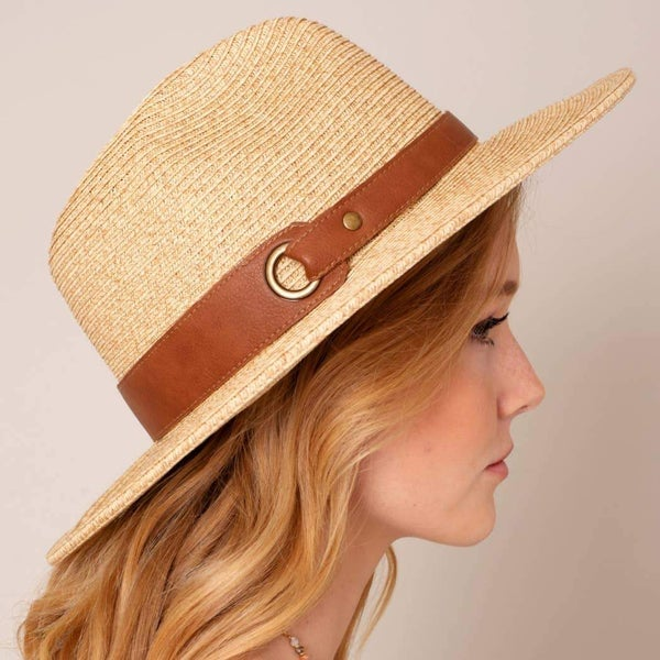 Brim Hat with Leather Strap