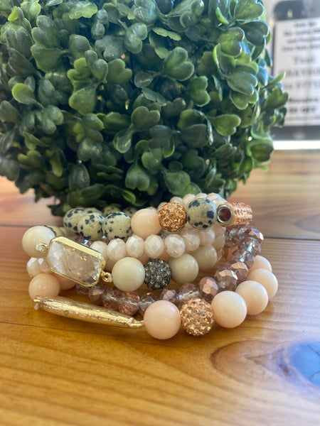 Crystal Stone Bracelet Set