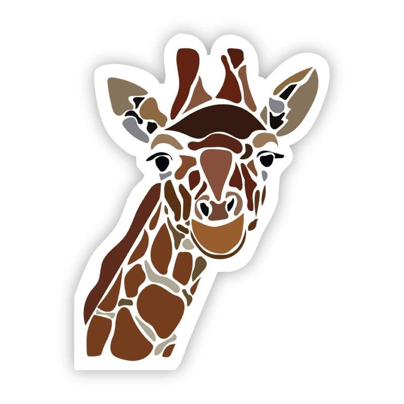 Mosaic Giraffe Sticker