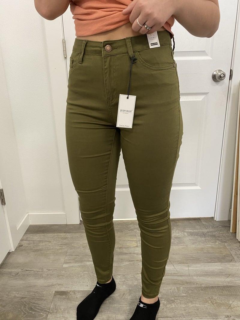 Olive Skinny Jean by Judy Blue
