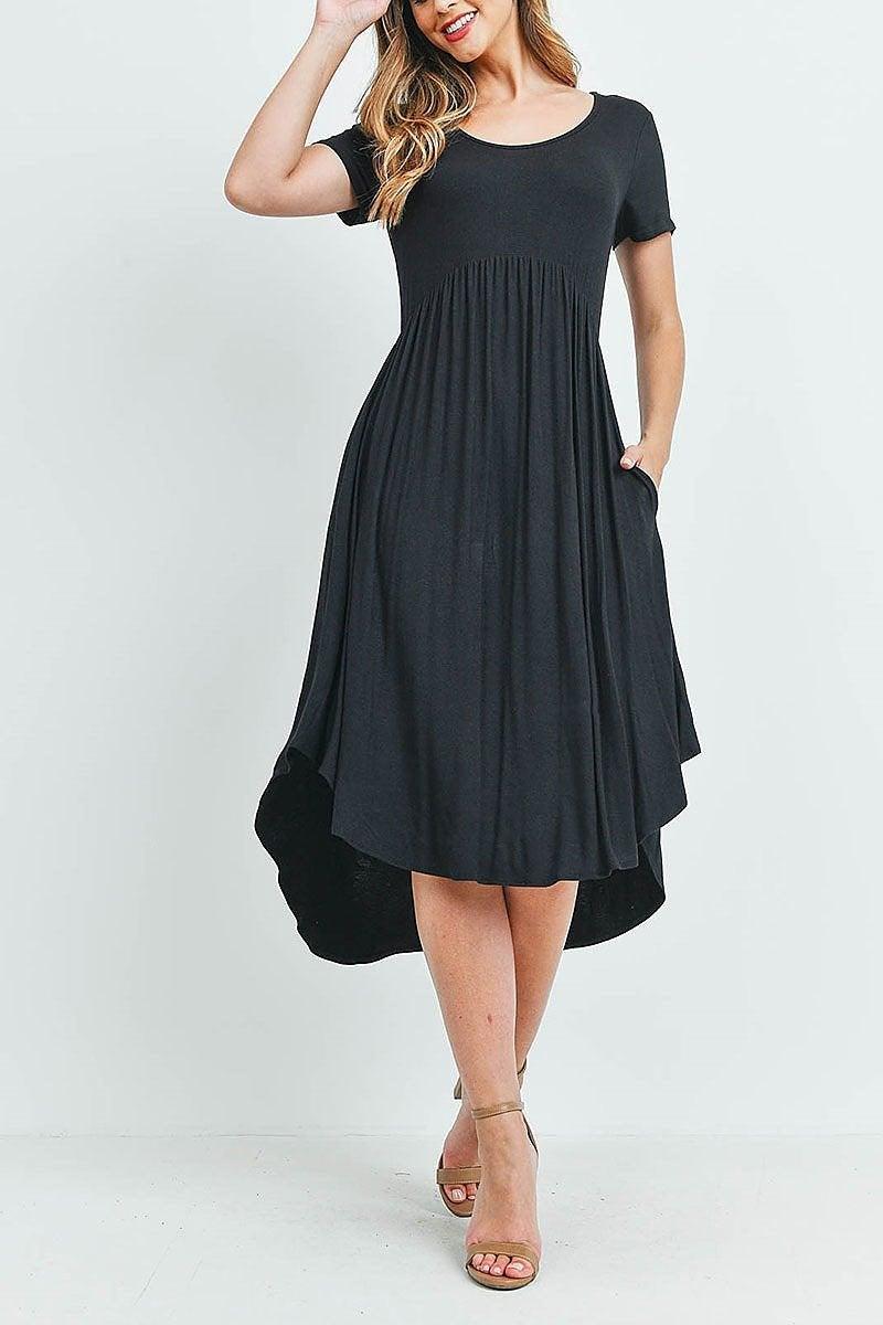 Everyday Midi Dress (Black or Olive)