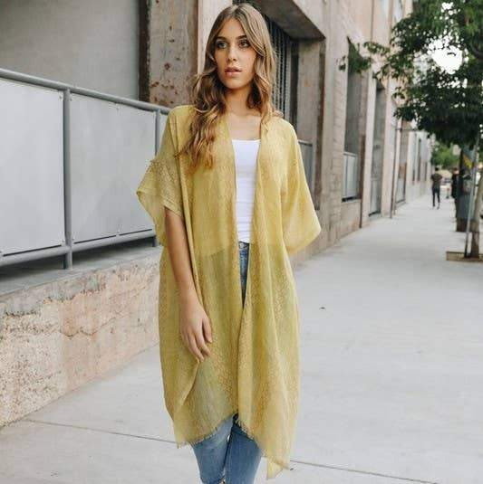 Gold One Size Kimono