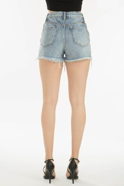 Distressed KanCan Shorts Mid-High Rise