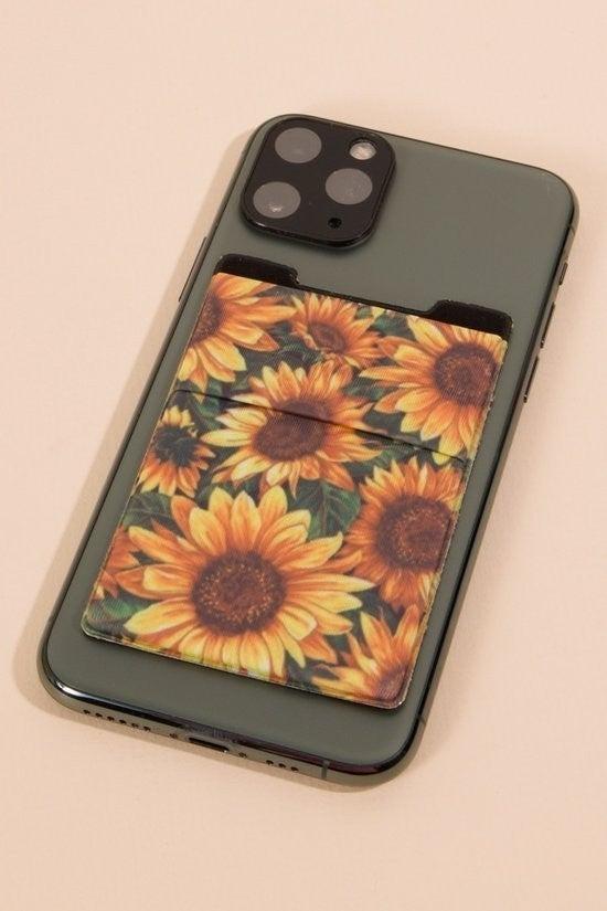 Sunflower Card Holder for Phone