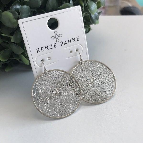 Silver Web Earring