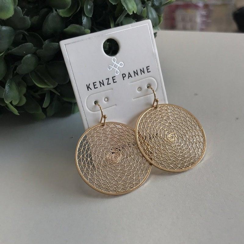 Gold Web Earring