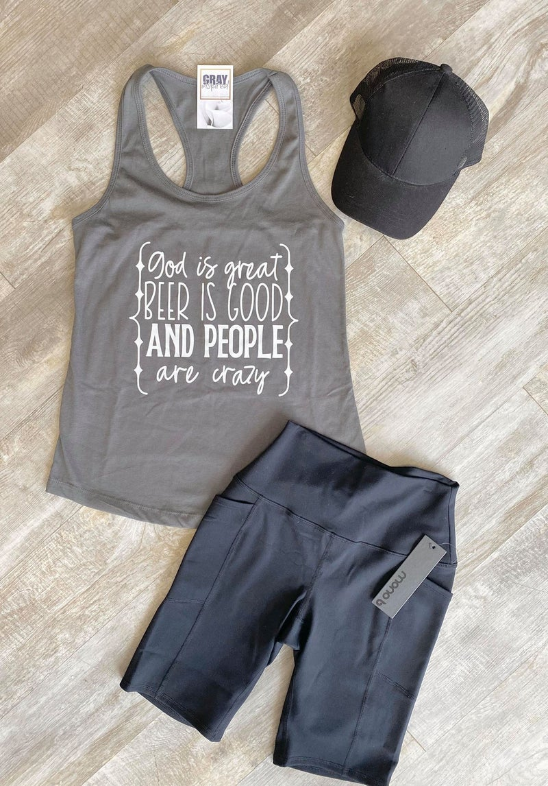 God Is Great, Beer is Good, and People are Crazy Tank (All Sizes)