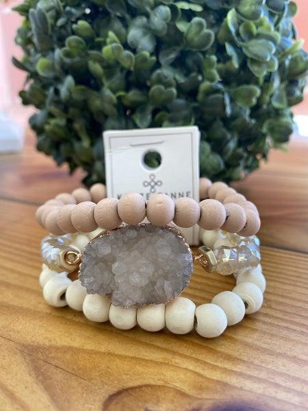 Sarah Large Druzy Bracelet Set