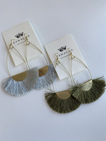 Lightweight Fringe Earring by Panache
