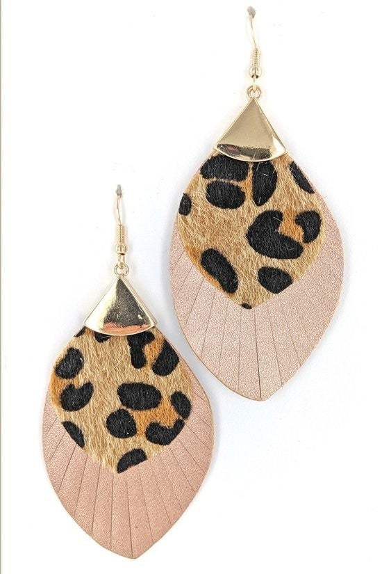 Animal Print Contrast Earring