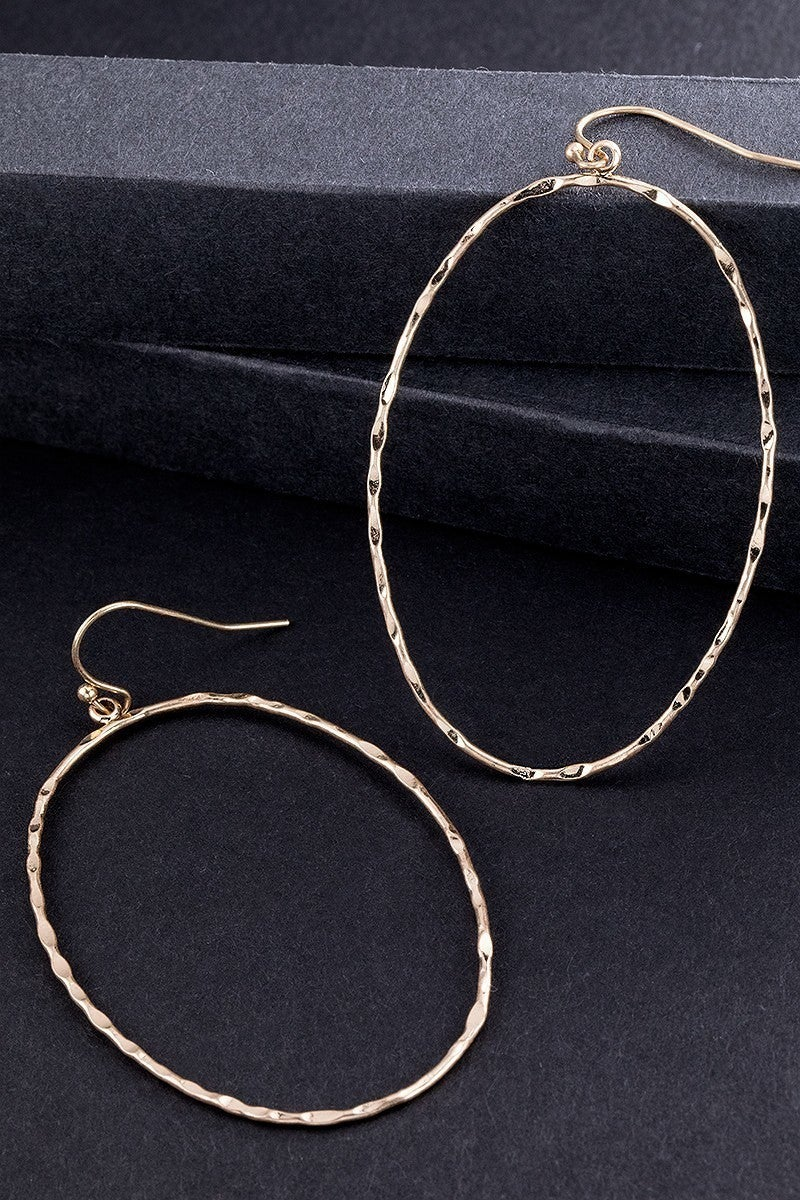 Hammered Gold Earring (2 Shapes)