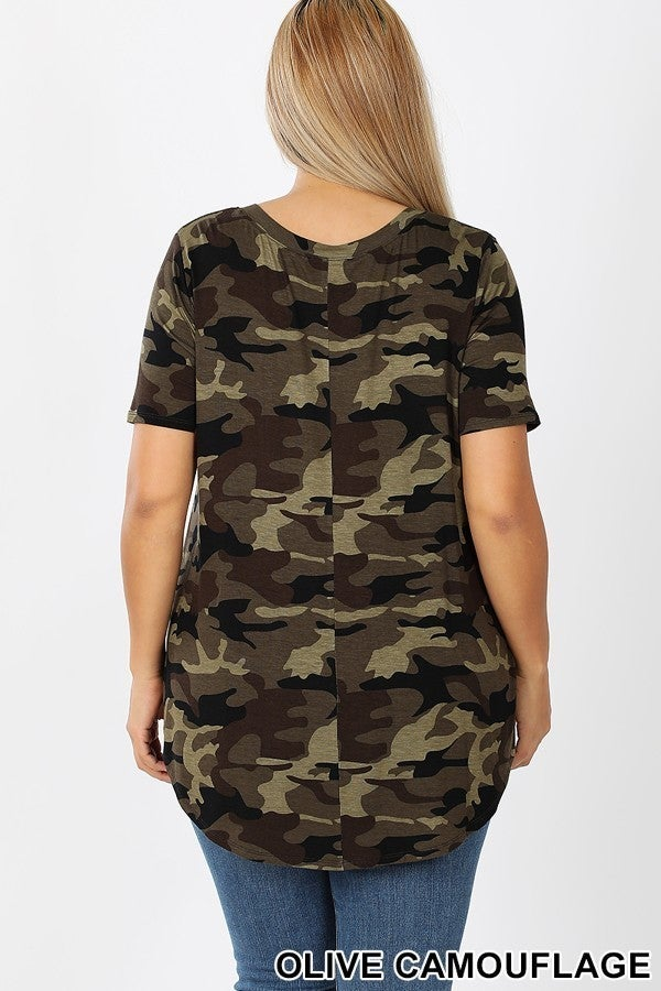 Camo Tee  in Two Colors (all Sizes)