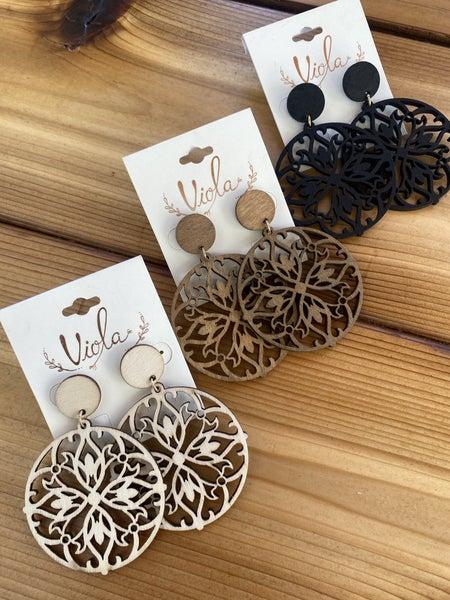 Wooden Detailed Earrings
