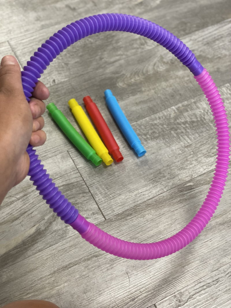 "Vibrant Pop Tube Fidgets 6"" stretch to 19"""