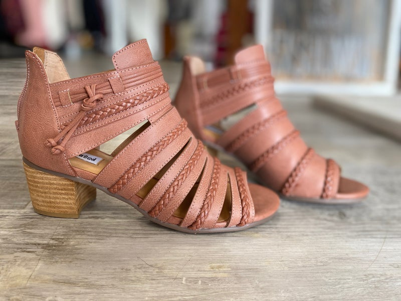 Dusty Pink Heeled Sandal by Not Rated
