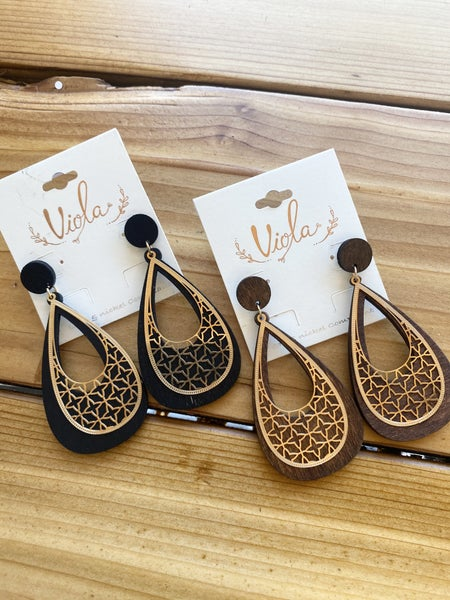 All The Details Wooden Earrings
