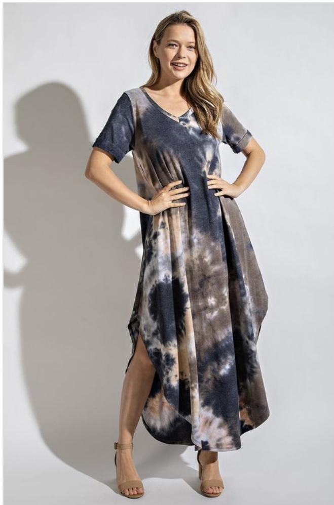 Jolene Tie Dye Maxi Dress (up to 3x)