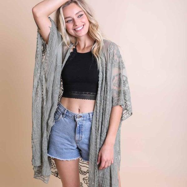 Lauren Mandala Sage Kimono