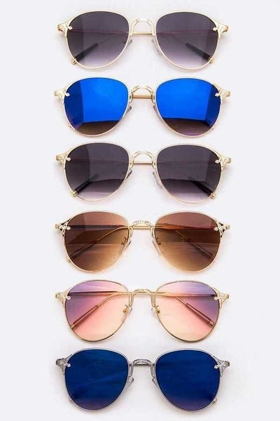 Mix tone Aviator sunglasses