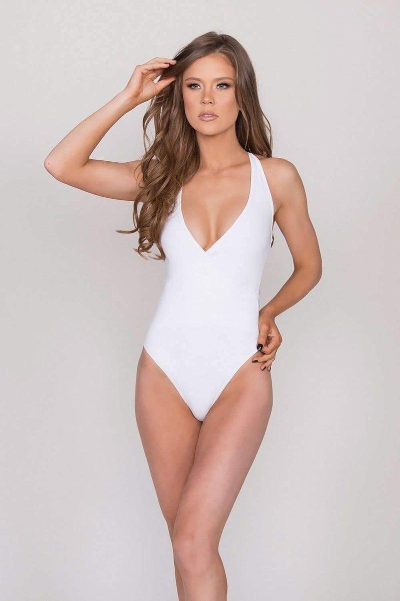 White Cross Bodysuit