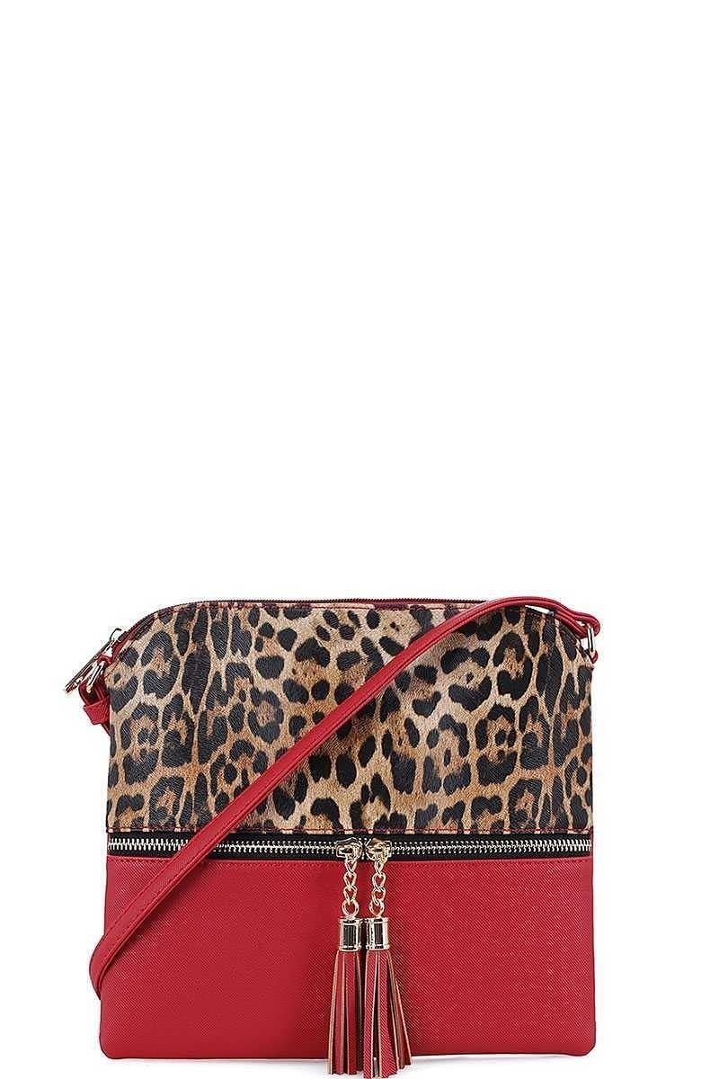 Leopard Crossbody Red Purse