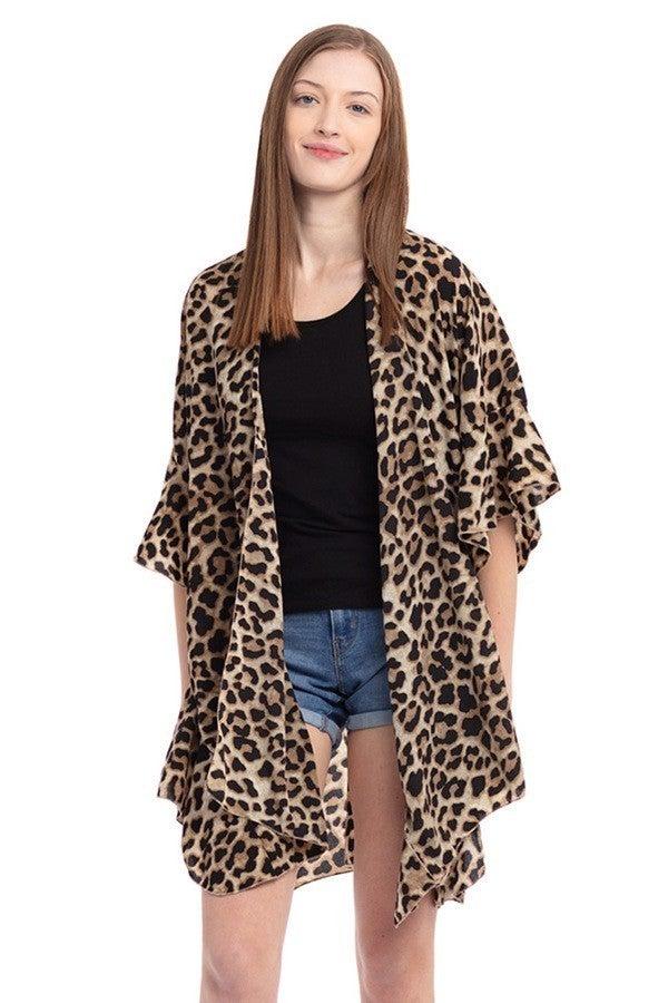 Leopard Kimono Cover-up