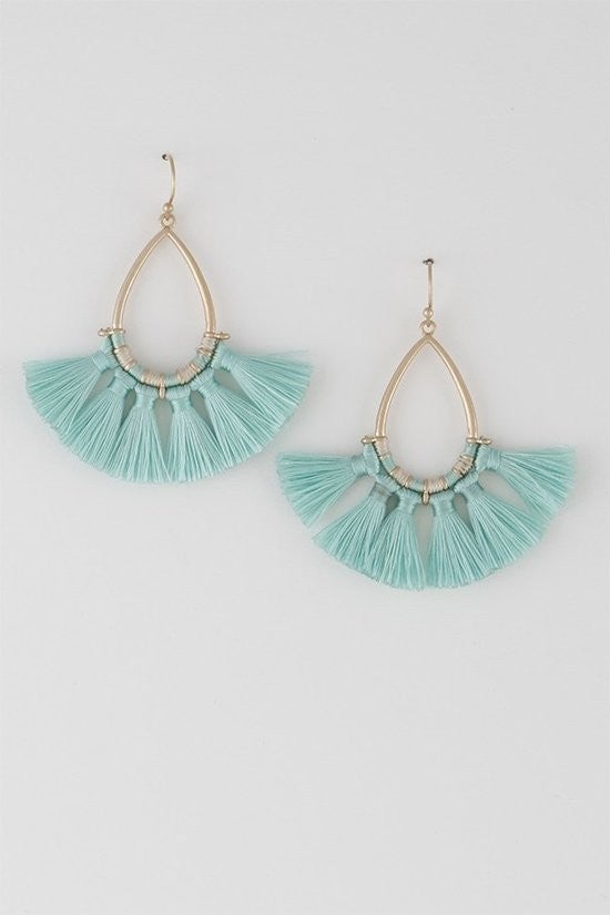 Fan Tassel Earring (Multiple Colors )