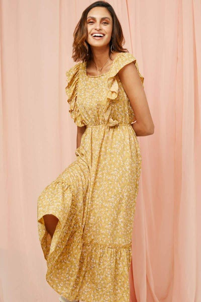 Darla Ruffle Peasant Dress in all sizes