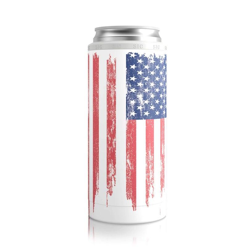 Slim Can Cooler American Flag