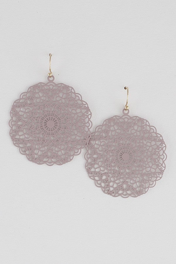 Oriental Pattern Small Earring(multiple colors)