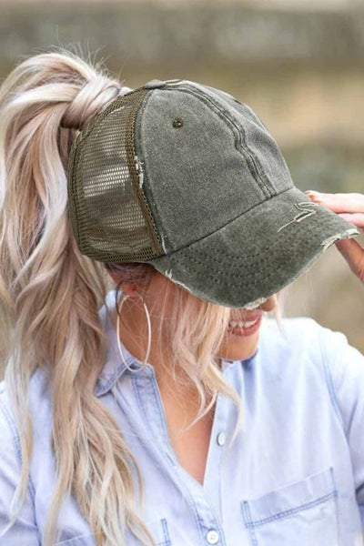 Vintage Washed Distressed Twill Mesh Baseball Cap