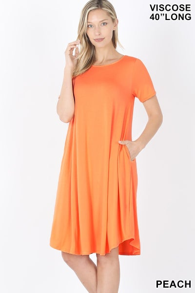 Knee Length Spring Swing Dress