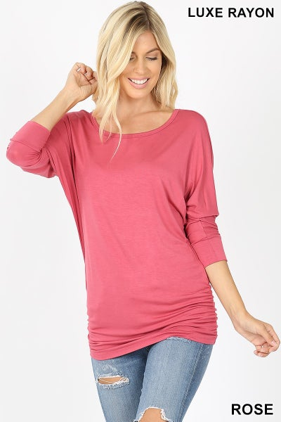 Boat Neck Casual Top