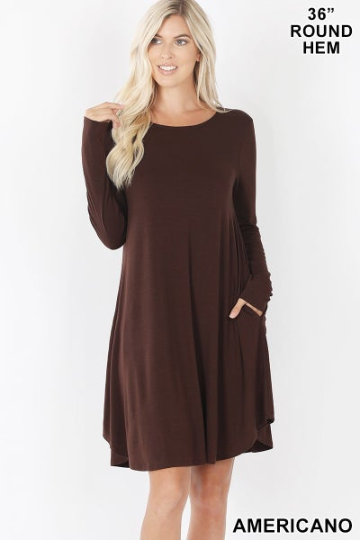 Rounded Hem Swing Tunic