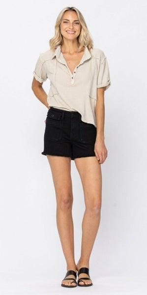 Judy Blue Black Cargo Shorts