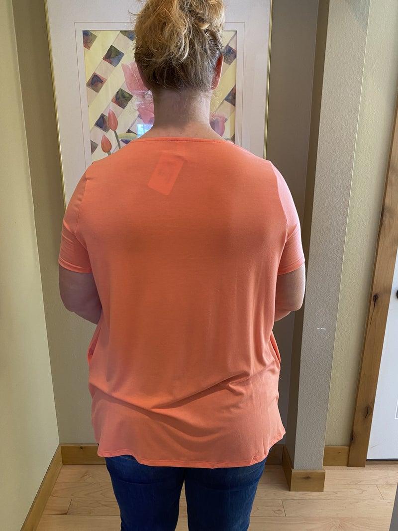 Short sleeve pleaded top