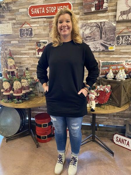 Pocket Thigh Length Sweatshirt
