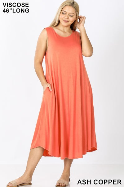 Curvy Girl Sleeveless Spring Swing Dress