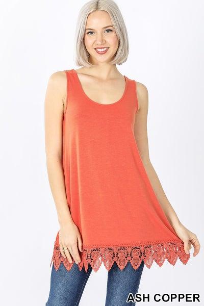 Lace Bottom sleeveless top