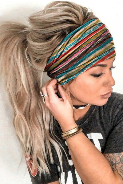 Striped Print Headbands