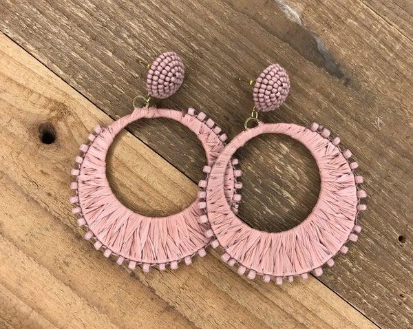 Beaded Weave Fashion Earrings
