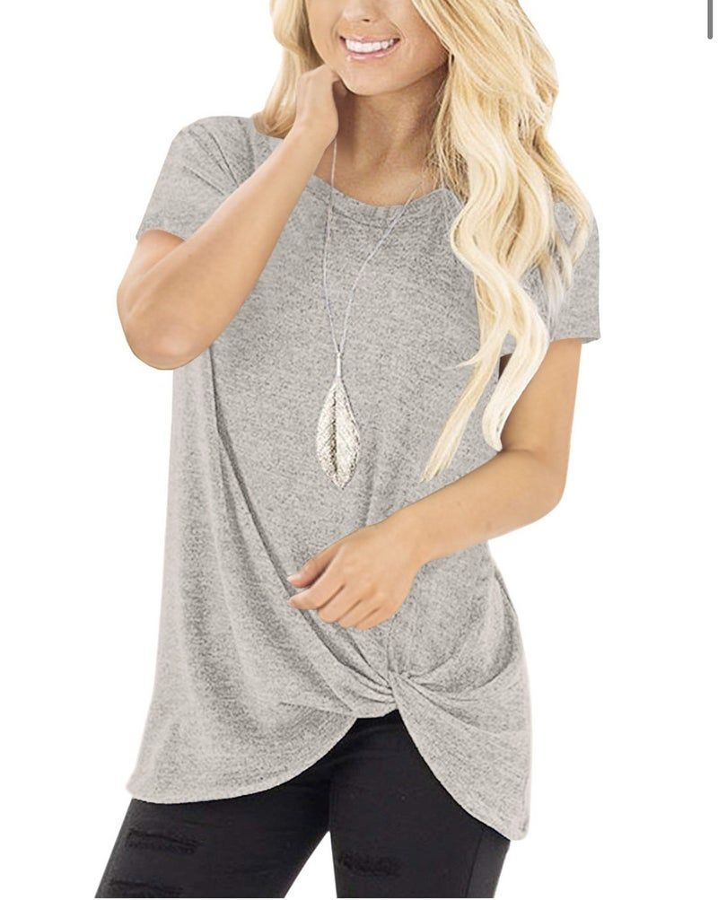 Short Sleeve Side Knot Front