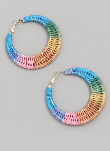 Boho Braided Hoop Earrings