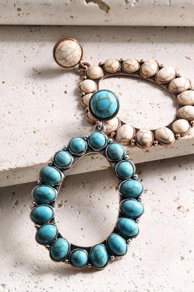 Oval Bohemian Inspired Post Earrings