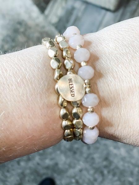 Gold Shimmer Blessed Bracelet Set