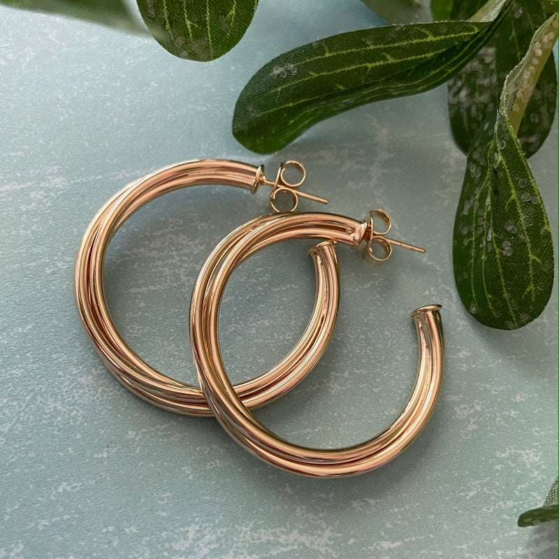 Twisted Sister Hoops Champagne