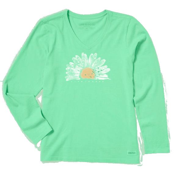 Life is Good Long Sleeve Daisy T-Shirt